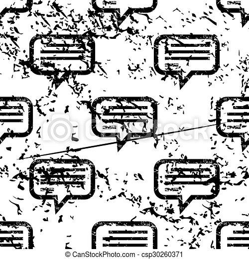 Text message pattern, grunge, monochrome - csp30260371