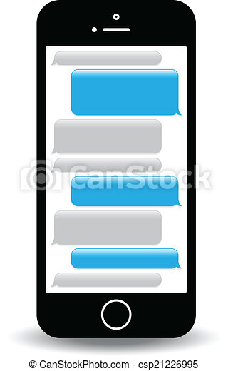 a blue mobile phone text messaging screen rh canstockphoto com text clipart free text clipart png