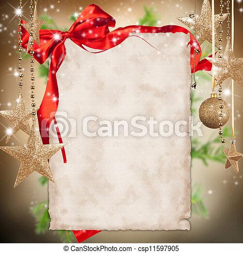 text, námět, noviny, čistý, vánoce mše - csp11597905