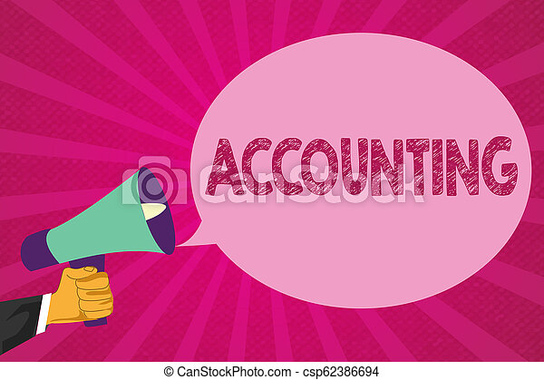 Text sign showing Accounting. Conceptual photo Process Work of keeping and analyzing financial accounts - csp62386694