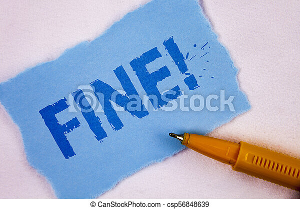 Text sign showing Fine Motivational Call. Conceptual photo No hidden charges from large moving companies written on Tear Blue Sticky note paper on plain background Pen next to it. - csp56848639