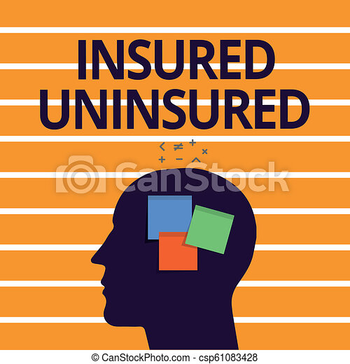 Text sign showing Insured Uninsured. Conceptual photo Company selling insurance Checklist to choose from - csp61083428
