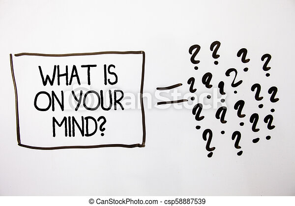 Text Sign Showing What Is On Your Mind Question Conceptual Photo