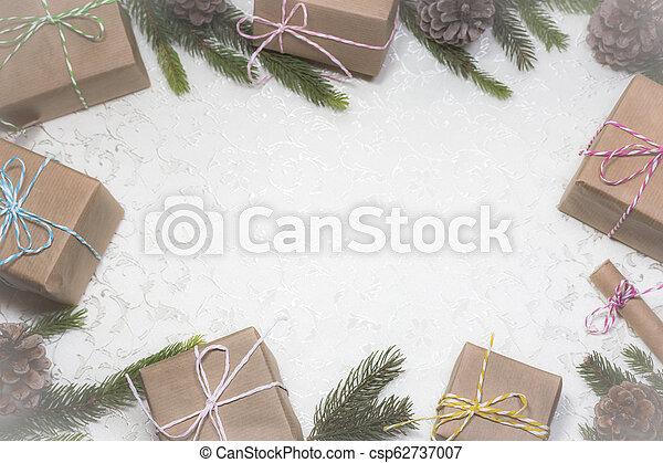 text, tom, jul, bakgrund, utrymme - csp62737007