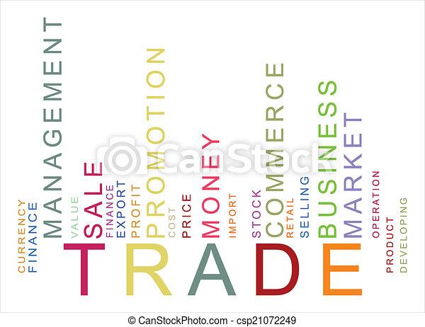 texte, barcode, coloré, commercer - csp21072249