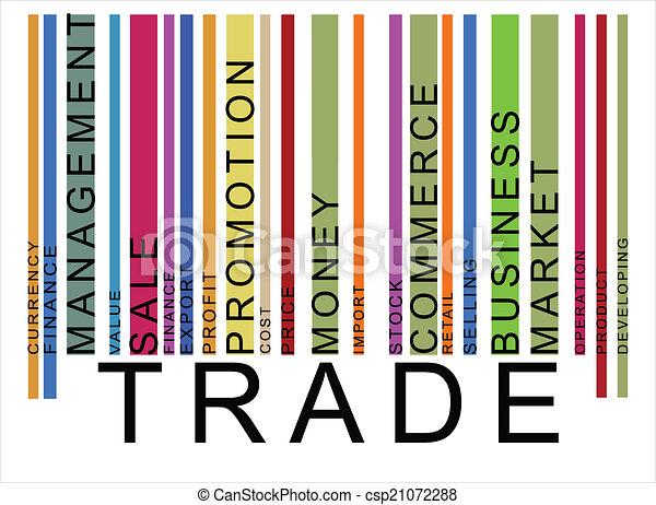 texte, barcode, coloré, commercer - csp21072288