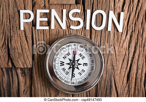 texte, bois, pension, compas - csp49147493