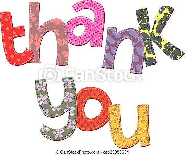 texte, vous, art, remercier, agrafe - csp25885654
