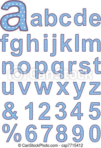 Textile alphabet - csp7715412