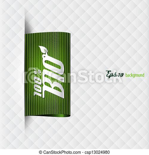 textile bio label - csp13024980