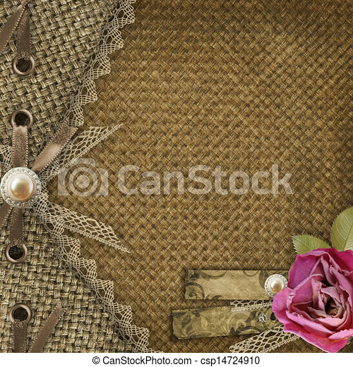 Textile cover for an album with photos  - csp14724910