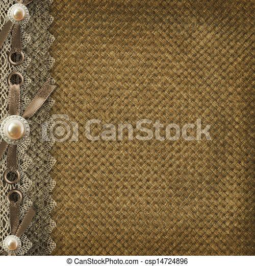 Textile cover for an album with photos  - csp14724896