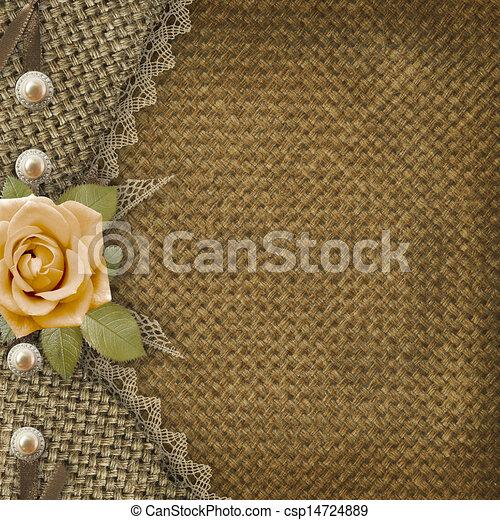 Textile cover for an album with photos  - csp14724889