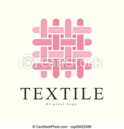 Textile Original Logo Design Creative Sign For Company Identity