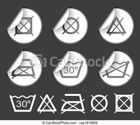 textile symboles lavage textile lavage tiquettes symboles autocollants insignes. Black Bedroom Furniture Sets. Home Design Ideas