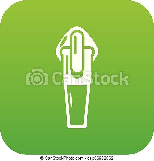 Textile zip icon, simple style - csp66982062