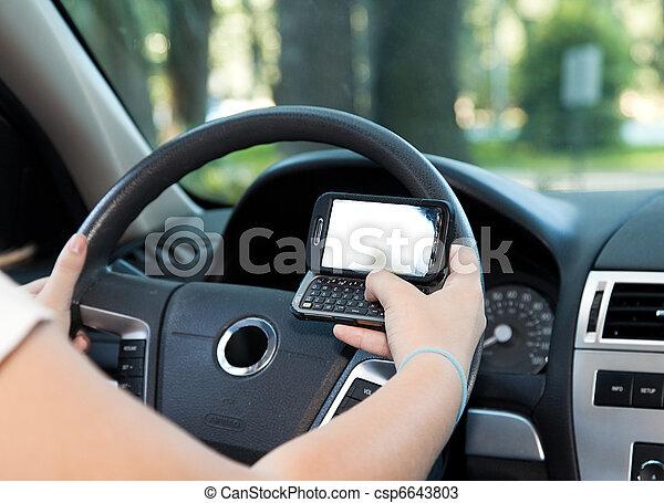 texting, 開車 - csp6643803