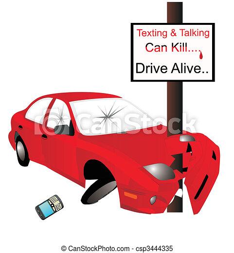 Texting and talking can Kill...  say No..... - csp3444335