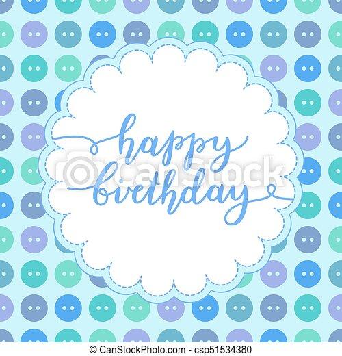 textning, födelsedag, lycklig - csp51534380