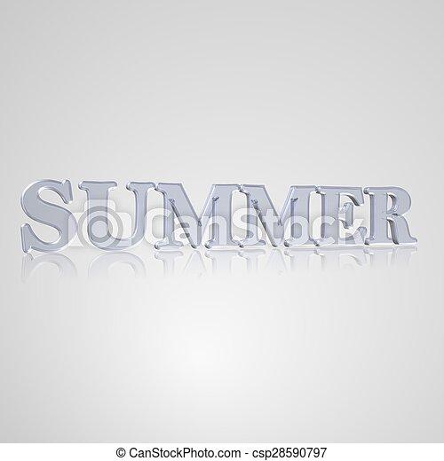 Verano de texto 3D - csp28590797