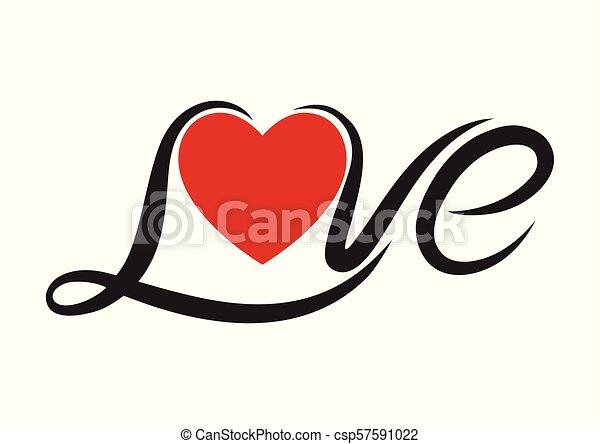 Texto de amor de tipografía - csp57591022