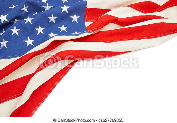 Bandera de EE.UU. con lugar para su texto - csp27769355
