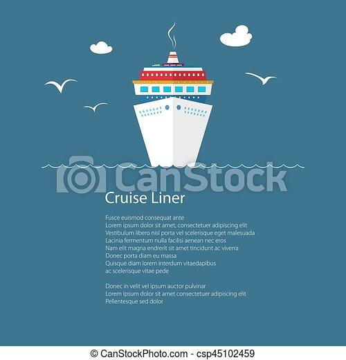 Crucero en el mar y texto - csp45102459