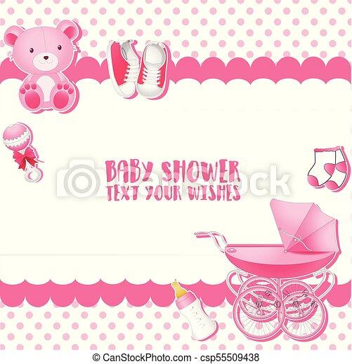 Tarjeta De Invitación De Baby Shower Lugar Para El Texto