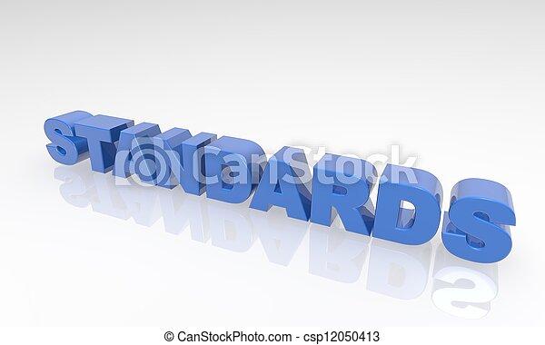 Los estándares de la palabra Buzz son 3D - csp12050413