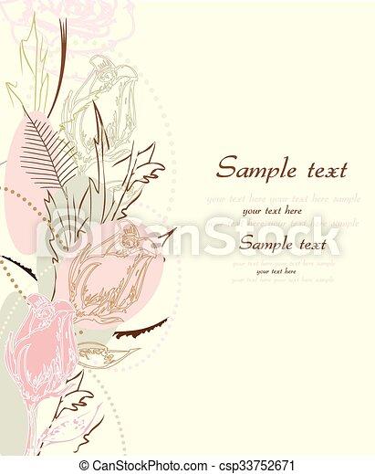 Fondo de flores con lugar para su texto - csp33752671