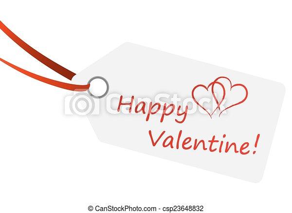 """Hangtag con texto """"Feliz San Valentín"""" - csp23648832"""