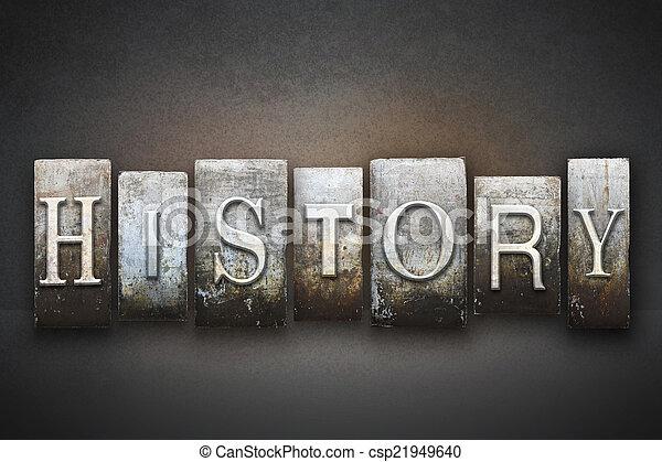 texto impreso, historia - csp21949640