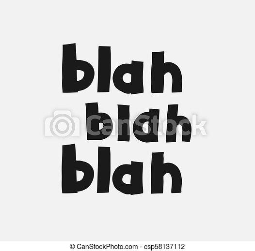 Corredor juvenil dibujado a mano texto bla bla bla - csp58137112