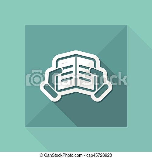 Icono de lectura de texto - csp45728928