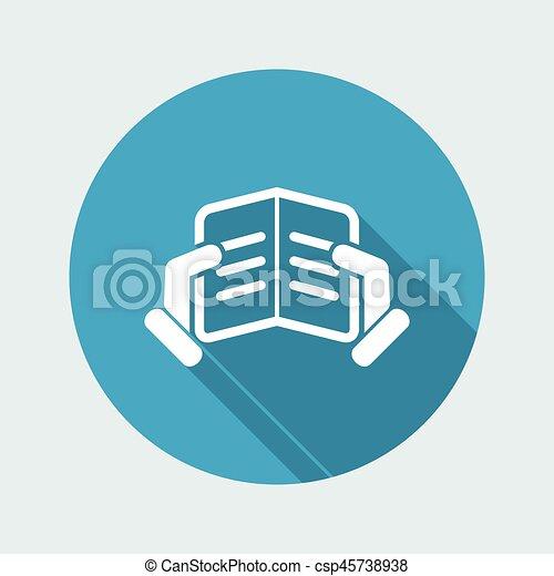 Icono de lectura de texto - csp45738938