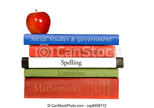Libros de texto escolares - csp6608712
