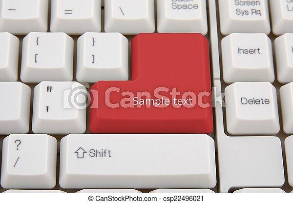 Teclado de computadora con llave roja para ti - csp22496021