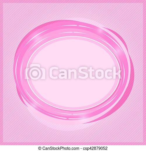 Marca redonda con lugar para el texto - csp42879052