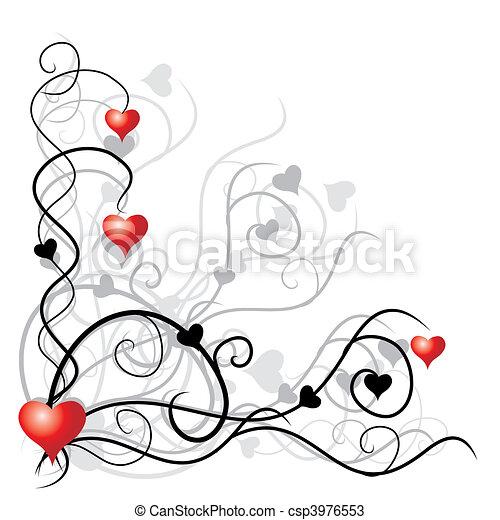 texto, lugar, su, plano de fondo, valentine - csp3976553