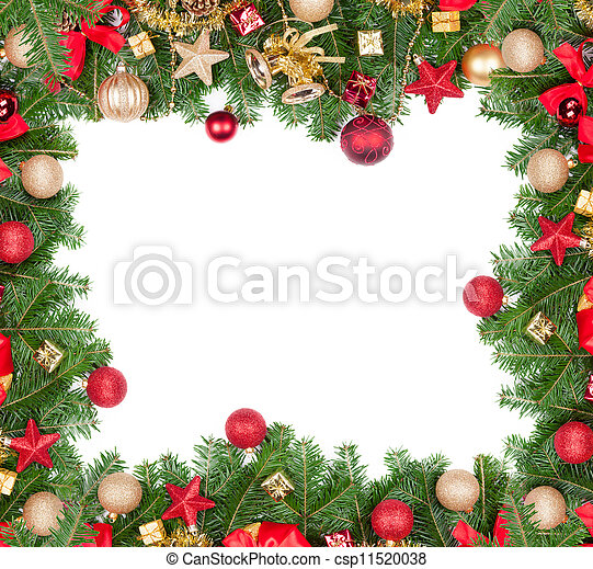 El marco de Navidad con espacio libre para el texto - csp11520038