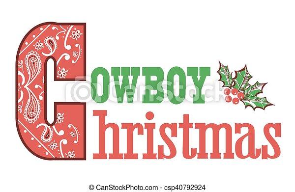 El texto de Navidad de los Cowboys - csp40792924