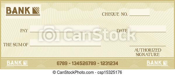 texto, próprio, seu, cheque, espaço - csp15325176