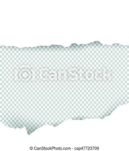 Papel roto transparente con espacio para el texto - csp47723709