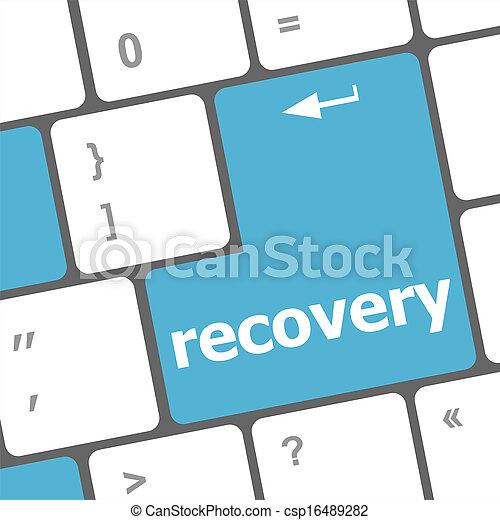 Texto de recuperación en el teclado - csp16489282