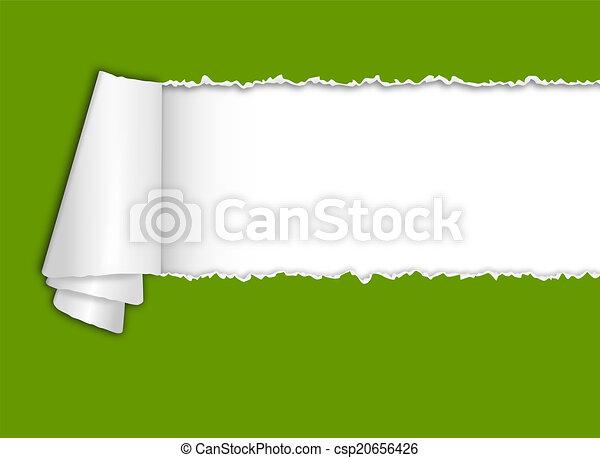 texto, torn-paper, espaço - csp20656426