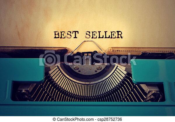 Retrograbadora y best seller escrito con ella - csp28752736