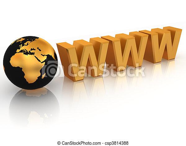 Escribe WWW con la tierra - csp3814388