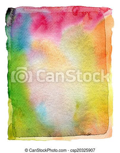 textur, pintado, abstratos, aquarela, experiência., papel, acrílico - csp20325907