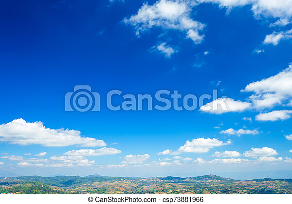 textura, azul, clouds., cielo, plano de fondo, blanco - csp73881966