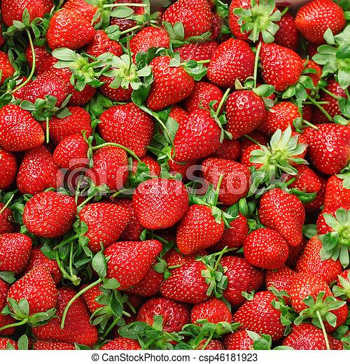 Textura de fresas jugosas. - csp46181923